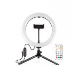 Фото - PowerPlant Кольцевая USB LED лампа Puluz PKT3082B 10' + настольный штатив (PKT3082B)